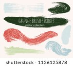 paint lines grunge collection.... | Shutterstock .eps vector #1126125878