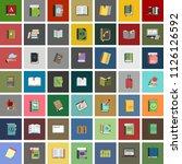 vector education book... | Shutterstock .eps vector #1126126592