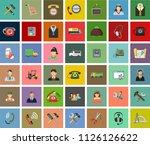 testimonials vector icons.... | Shutterstock .eps vector #1126126622
