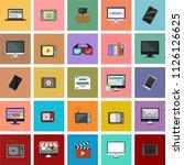 computer monitor  smartphone ... | Shutterstock .eps vector #1126126625