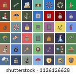 data security vector icons.... | Shutterstock .eps vector #1126126628