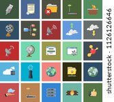 social media and network icons... | Shutterstock .eps vector #1126126646