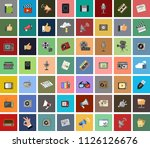 vector icons of like  handset ... | Shutterstock .eps vector #1126126676