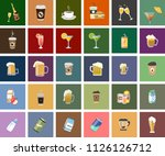 beverage vector icons.... | Shutterstock .eps vector #1126126712