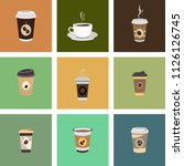 set of coffee cup   mockup... | Shutterstock .eps vector #1126126745