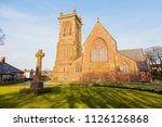 peel cathedral on the isle of... | Shutterstock . vector #1126126868