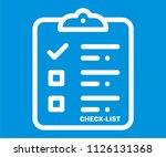 checklist vector icon | Shutterstock .eps vector #1126131368