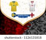 match playoffs. game between... | Shutterstock .eps vector #1126131818