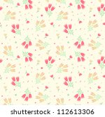 seamless floral background | Shutterstock .eps vector #112613306