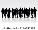 group of people. crowd of... | Shutterstock .eps vector #1126133528