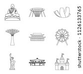 relation icons set. outline set ... | Shutterstock . vector #1126133765