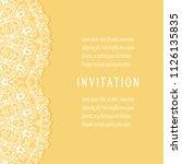 invitation or card templates...   Shutterstock .eps vector #1126135835