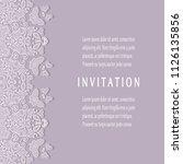 invitation or card templates... | Shutterstock .eps vector #1126135856