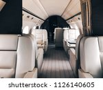 interior of a private luxury jet | Shutterstock . vector #1126140605