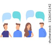 colorful people isolated on a... | Shutterstock .eps vector #1126141142