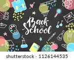 back to school. hand drawn... | Shutterstock .eps vector #1126144535