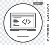 coding icon vector  coding in... | Shutterstock .eps vector #1126146905