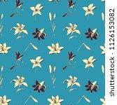 seamless vector retro pattern...   Shutterstock .eps vector #1126153082