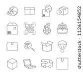 delivery. set of outline vector ... | Shutterstock .eps vector #1126154852