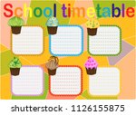 school timetable  a weekly... | Shutterstock .eps vector #1126155875