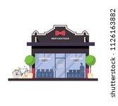 men boutique store front. flat... | Shutterstock .eps vector #1126163882