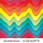 three dimensional colored drips ... | Shutterstock .eps vector #1126163975