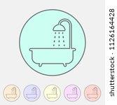 bath shower icon flat web sign... | Shutterstock .eps vector #1126164428