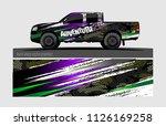 truck wrap design vector.... | Shutterstock .eps vector #1126169258