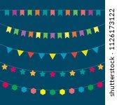 vector garlands. holiday... | Shutterstock .eps vector #1126173122