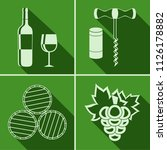 set of flat icon of wine theme | Shutterstock .eps vector #1126178882