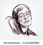 Stephen Hawking Vector Sketch...