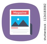 a variety of publication... | Shutterstock .eps vector #1126183082