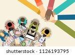 flat design illustration... | Shutterstock .eps vector #1126193795