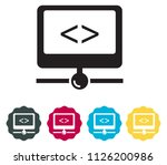 network server icon as eps 10... | Shutterstock .eps vector #1126200986