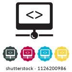 network server icon as eps 10... | Shutterstock .eps vector #1126200986