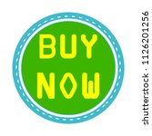 vector buy now sign icon   shop ... | Shutterstock .eps vector #1126201256