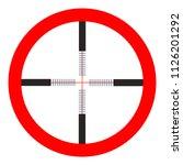 crosshairs icon   vector target ... | Shutterstock .eps vector #1126201292
