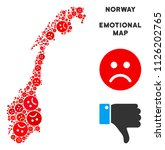 sorrow norway map mosaic of sad ... | Shutterstock .eps vector #1126202765