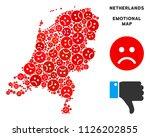 sorrow netherlands map mosaic... | Shutterstock .eps vector #1126202855