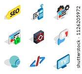 computer biz icons set.... | Shutterstock . vector #1126205972