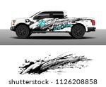 truck decal  cargo van and car... | Shutterstock .eps vector #1126208858