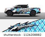 truck decal  cargo van and car... | Shutterstock .eps vector #1126208882