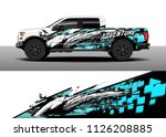 truck decal  cargo van and car... | Shutterstock .eps vector #1126208885