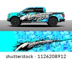 truck decal  cargo van and car... | Shutterstock .eps vector #1126208912