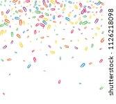 multicolored paper clips are... | Shutterstock .eps vector #1126218098
