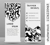 roll up banner stand template.... | Shutterstock .eps vector #1126220465