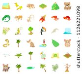 forest vegetation icons set.... | Shutterstock . vector #1126221098
