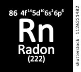 periodic table element radon... | Shutterstock .eps vector #1126221482