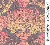 vector illustration. wreath of... | Shutterstock .eps vector #1126222076