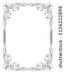 calligraphy ornamental...   Shutterstock . vector #1126222898